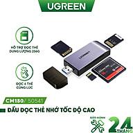 Đầu đọc thẻ tốc độ cao đa năng UGREEN CM180 hỗ trợ thẻ SD TF CF MS - Hàng chính hãng thumbnail