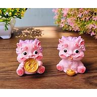 Bộ tượng Kỳ Lân màu hồng - tặng kèm 50 xu vàng may mắn thumbnail
