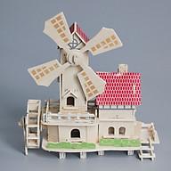 Đồ chơi lắp ráp gỗ 3D Mô hình Cối xay gió thumbnail