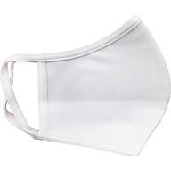 Combo 2 khẩu trang vải màu trắng - Có thể tái sử dụng, co giản tốt không gây đau. thumbnail