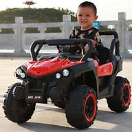 Ô tô xe điện địa hình MDX-A909 đồ chơi vận động cho bé 2 ghế giá rẻ (Đỏ-Trắng-Xanh) thumbnail