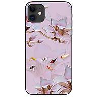 Ốp lưng da nh cho Iphone 12 Mini mẫu Tranh Hoa Va Ca thumbnail