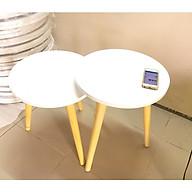 Cặp bàn tròn gỗ sofa phòng khách 40-40, bàn trà, bàn cafe, coffee, cà phê, bàn salon, sopha thumbnail