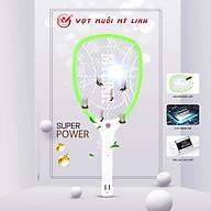 Bộ vợt muỗi Mỹ Linh 3688 bao gồm đèn chiếu có tác dụng vừa thu hút muỗi vừa chiếu sáng trong đêm tối rất tiện lợi thumbnail