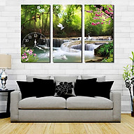 Tranh treo tường, tranh đồng hồ DH3305 bộ 3 tấm ghép thumbnail