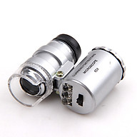 Kính lúp mini cầm tay độ phóng đại 60 lần có đèn gập (Tặng kèm miếng thép đa năng 11in1) thumbnail