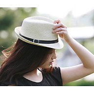 Mũ phớt nữ vành nhỏ thời trang nón phớt cói panama nữ thumbnail