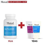 Viên uống mụn Murad Pure Skin Clarifying Dietary Supplement 120 viên Tặng Srm AHA BHA 15 ml + Clarifying Cleanser 15ml thumbnail