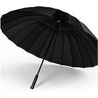 Ô dù đi mưa đi nắng cỡ lớn 24 nan chống lật chống uv cao cấp màu đen thumbnail