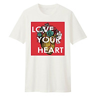 Áo T-shirt Unisex Cho Bé DOTILO LOVE YOUR HEART - hu048 thumbnail