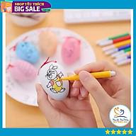 Bộ đồ chơi trứng tô màu kèm 4 bút lông thumbnail