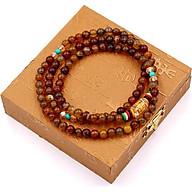 Chuỗi tay 108 hạt đá vân rồng VMTVR1 - Tràng chuỗi hạt đá phong thủy - Chuỗi tay niệm Phật thumbnail