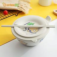Bát úp mì Bát ăn mì sợi tre Bamboo Life hàng chính hãng BL034 có nắp đậy kèm đũa thumbnail