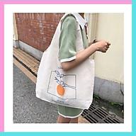 Túi tote vải đeo chéo canvas bag giá rẻ đẹp đi học TX337 thumbnail