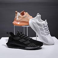 Giày Nam Sneaker Nam Cực Chất, 3 Màu Trắng - Đen - Nâu - ( H66 ) thumbnail