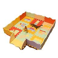 Thảm xốp ghép trải sàn 9 tấm hình họa bao gồm quây tặng xe trượt đà cho bé VBC-123-6 ( ngẫu nhiên) thumbnail