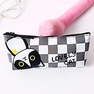 Hộp bút nhựa PU dễ thương hình mèo Lovely Cat - nhiều mẫu thumbnail