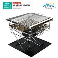 Bếp nướng BBQ Vietcamp - Bếp nướng than hoa inox 304 - Cỡ vừa cho 4 đến 6 người - 35x35cm - có thể xếp gọn thumbnail