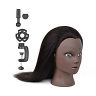 100% Real Hair Mannequin Head Hairdresser Training Head Cosmetology Doll Head for Hairdresser Student Practice Head thumbnail