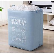 (Được lựa màu) Túi vải đựng chăn màn cỡ lớn có thể gấp gọn, Giỏ đựng quần áo chống thấm nước siêu tiện dụng thumbnail