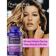 Vitamin tổng hợp cho phụ nữ, tăng cường sức khỏe hệ miễn dịch, hệ hô hấp Puritan s Pride One Daily Women s Multivitamin 100 viên thumbnail