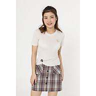 Áo cotton lồng đai tròn VIEN TRAN V61S20H002 thumbnail