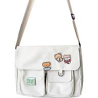 Túi vải nhiều ngăn phong cách năng động cực xinh G869 ( KHÔNG kèm móc thú bông) thumbnail