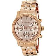 Michael Kors Women s Ritz Rose Gold-Tone Watch MK6077 thumbnail