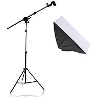 Bộ chân đèn TREO Chụp Ảnh Sản Phẩm, Studio, quay phim, Livestream chuyên nghiệp, gồm 01 chân đèn cao 2m kèm 01 Softbox 50x70cm + 01 thanh treo kèm đầy đủ phụ kiện dây cắm và công tắc đèn, túi cát đối trọng ( không kèm bóng) thumbnail