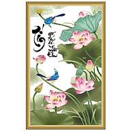 Decal dán tường khung tranh thư pháp đẹp TP_Tin_01 chữ TÍN thumbnail