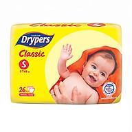 Tã Dán Drypers Classic Gói Trung S26 (26 Miếng) thumbnail