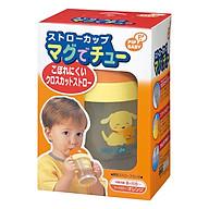 Bình Uống Nước Có Ống Hút Bằng Nhựa Cho Em Bé Pip Baby (200ml) - Nắp Cam thumbnail