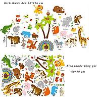 Decal dán tường cho bé học tiếng anh các loài thú SK9296 thumbnail