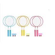 Bộ 2 vợt cầu lông cho bé tập đánh cầu 43x23cm+Tặng kèm 2 quả cầu, nhiều màu, giao màu ngẫu nhiên-Bộ vợt đánh cầu lông 2 trong 1 tiện lợi phù hợp cho bé trai và bé gái- Cặp vợt cầu lông trẻ em thumbnail