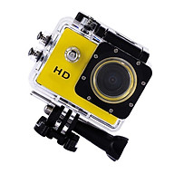 HD Action Camera 720P Outdoor Sport DV with Waterproof Case & Adapter-Yellow thumbnail