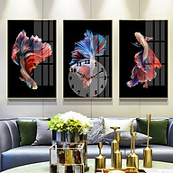 Tranh treo tường, tranh đồng hồ NT216 bộ 3 tấm ghép thumbnail