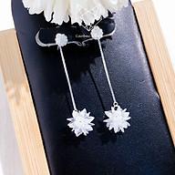 Khuyên Tai Bạc Nữ CaoBac Silver S99 Bông Tuyết Dài Dành Cho Nữ Đi Dự Tiệc- Bạc Ta Cao Cấp thumbnail