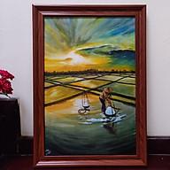 Tranh sơn dầu họa sỹ sáng tác vẽ tay DIÊM DÂN thumbnail