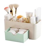 Hộp nhựa nhiều ngăn có ngăn kéo đựng mỹ phẩm, phụ kiện, trang sức thumbnail