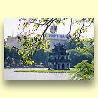 Tranh Canvas Treo Tường Phong Cảnh Hồ Gươm Hà Nội Mùa Thu - Công Nghệ In UV Nhật Bản - Màu Sắc Đẹp Rõ Nét thumbnail
