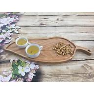 Khay trà gỗ hình chiếc lá đựng ấm chén trà, đựng hạt dưa, bánh mứt, thực phẩm, đồ ăn khay gỗ decor, chụp ảnh thumbnail
