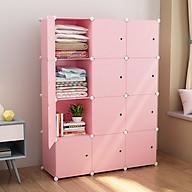 Tủ nhựa lắp ghép full ô siêu chịu lực loại cao cấp màu hồng mới thumbnail