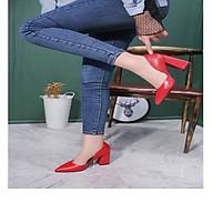 Giày Cao Gót Nữ Công Sở Chất Da Mềm Đế Vuông Cao Cấp Cao 7 Phân Phong Cách Hàn Quốc. thumbnail