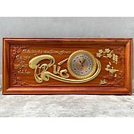 Tranh gỗ đồng hồ chữ phúc 108x48x4 gỗ hương thumbnail