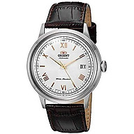 Orient Men s 2nd Gen. Bambino Ver. 2 Japanese Automatic Stainless Steel and Leather Dress Watch thumbnail