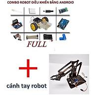 Combo xe android gắn cánh tay robot thumbnail