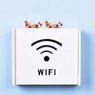 Kệ wifi mini Chữ Wifi treo tường không khoan tặng kèm móc treo cường lực thumbnail