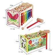 Bộ đồ chơi đập chuột kèm đàn tám thanh bằng gỗ cho bé thumbnail