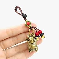 Móc Khóa Tượng Đồng Con Chuột có màu đồng, kích thước 1.2 x 1 x 2.8cm dùng để làm móc khóa, trưng trên bàn, làm quà tặng lưu niệm - TMT Collection - SP005215 thumbnail