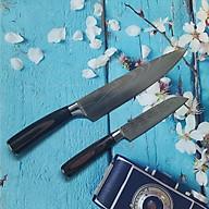 COMBO 2 DAO NHẬT VÂN HOA mẫu MỚI- HÀNG NỘI ĐỊA NHẬT. Bộ gồm 1 dao THÁI THỊT + 1 dao GỌT rau củ quả. Dụng cụ nhà bếp dùng thái SASHIMI, PHI LÊ mỏng, Gọt rau củ quả ĐẲNG CẤP thumbnail